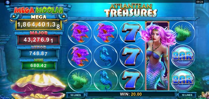 Nytt spel - Atlantean Treasures: Mega Moolah