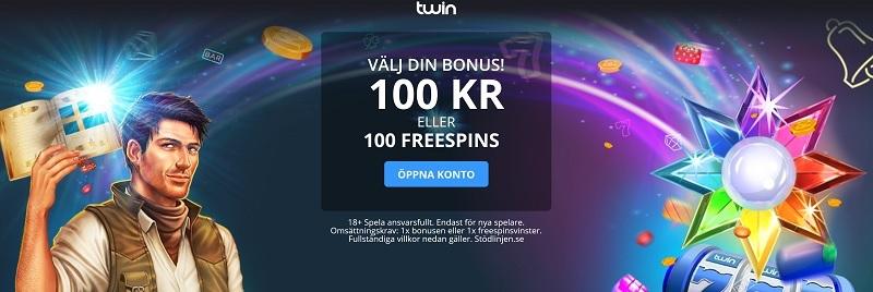 Twin casinobonus med svensk spellicens