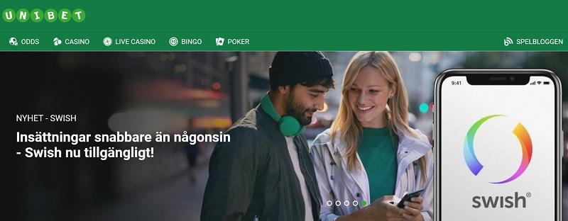 Spela på onlinecasino med Swish 2019