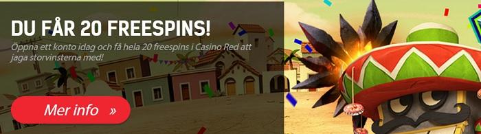 Redbet free spins 4 Juni 2013