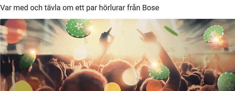 Schlagerturnering hos Unibet - vinn hörlurar från Bose!