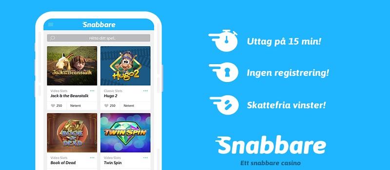 Nu finns Snabbare.com hos Casinosmart!