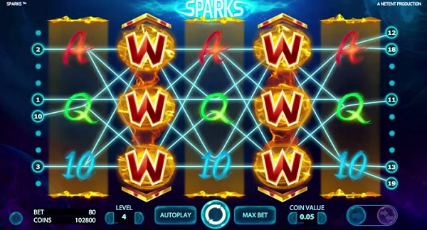 Sparks ny Netent spelautomat