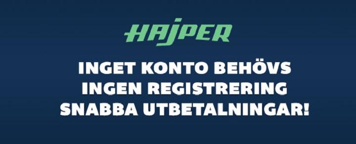 Testa nya spelsajten Hajper.com!