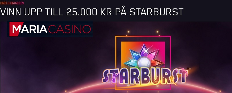 Starburst-turnering med 100 000 kr i potten!