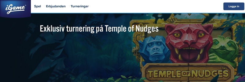 Temple of Nudges-turnering hos iGame!