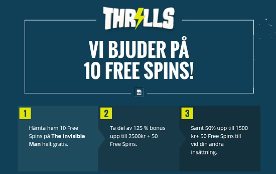 Thrills free spins casino