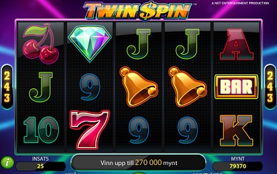 Twin Spin - Free spins 25 november 2013