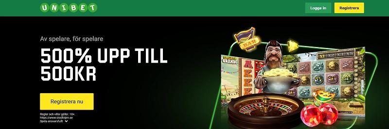 Unibet Casino Bonus ger dig 200% bonus upp till 2000 kr