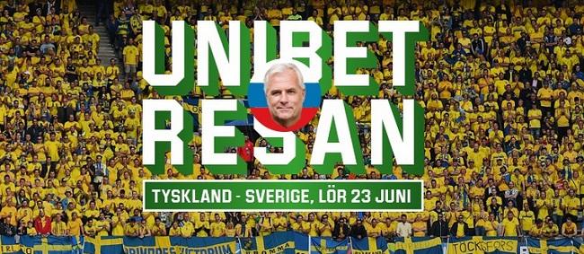 Vinn biljetter till Tyskland - Sverige hos Unibet Casino