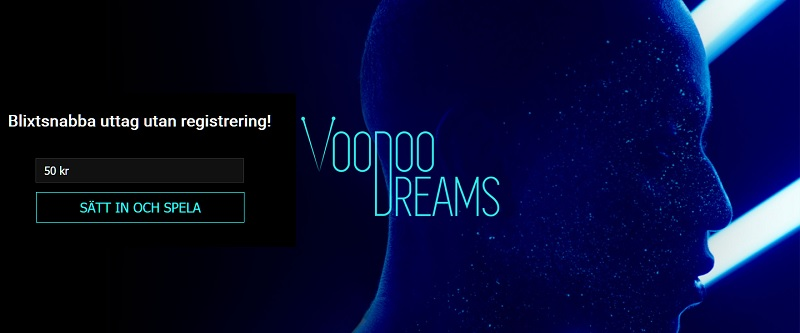 VooDoo Dreams Casino Bonus på 100% + 200 free spins