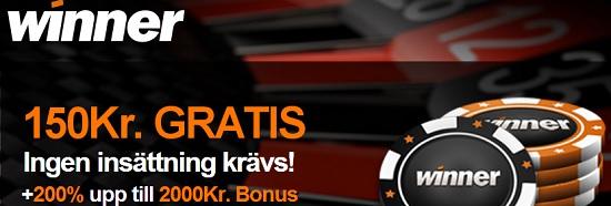 Winner Casino 150 kr gratis