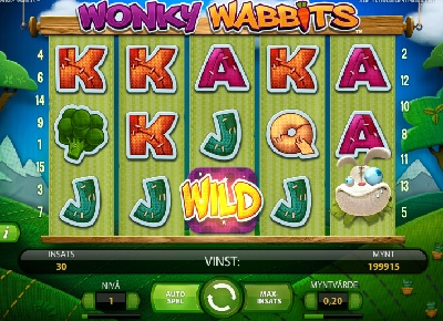 Wonky Wabbits netent spelautomat