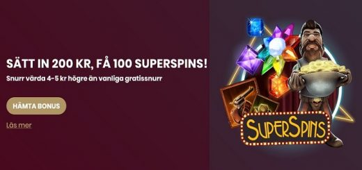 100 superspins hos cherry casino