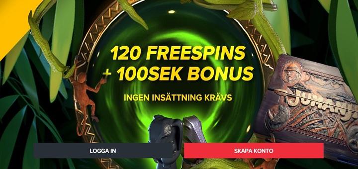 120 free spins på Jumanji