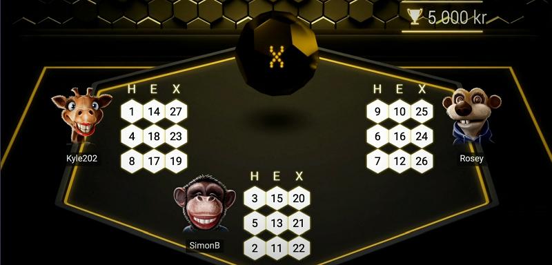 Så här spelar du HexaBingo hos Maria Casino