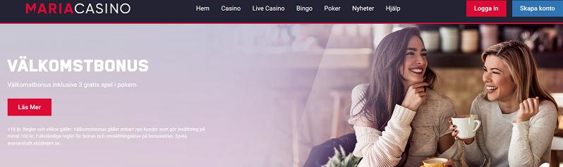Mara Casino välkomstbonus till nya spelare