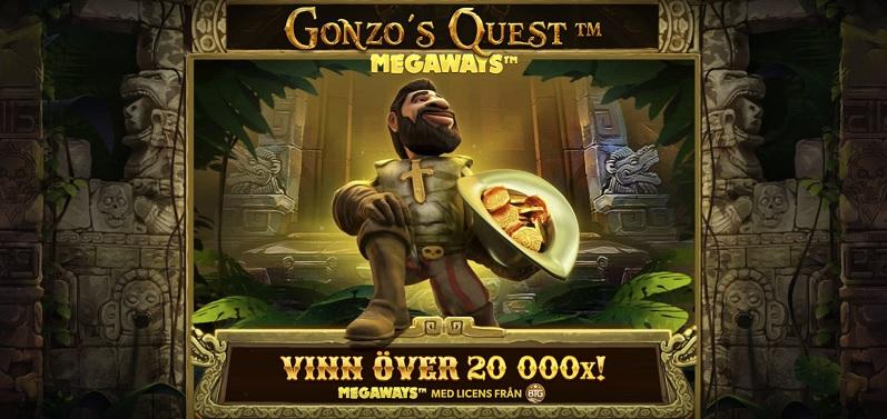 Gonzo's Quest Megaways - Ny spelautomat från NetEnt