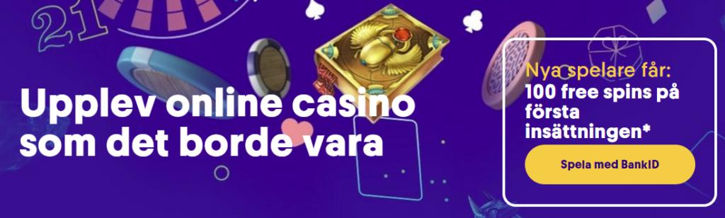 Casumo med 100 free spins på Vault of Anubis