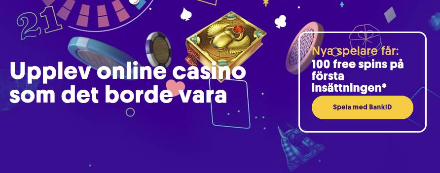 Free spins på svenska casinon April 2021