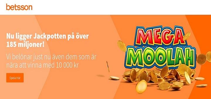 mega moolah jackpott 185 miljoner