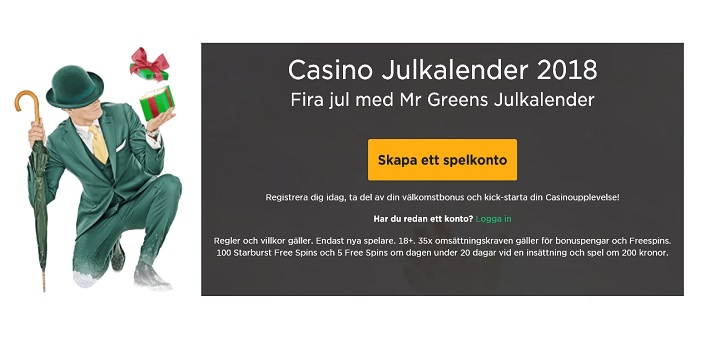 Mr Green julkalender 2018