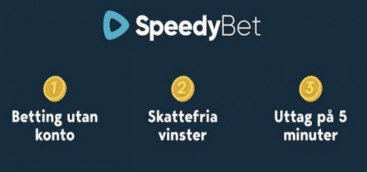 SpeedyBet utan att skapa konto